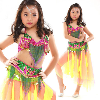 3581f39f08 2016 New Fashion Sexy Babay Girls Belly Dance Costumes Dress Suits With Bra  Skirts Belt