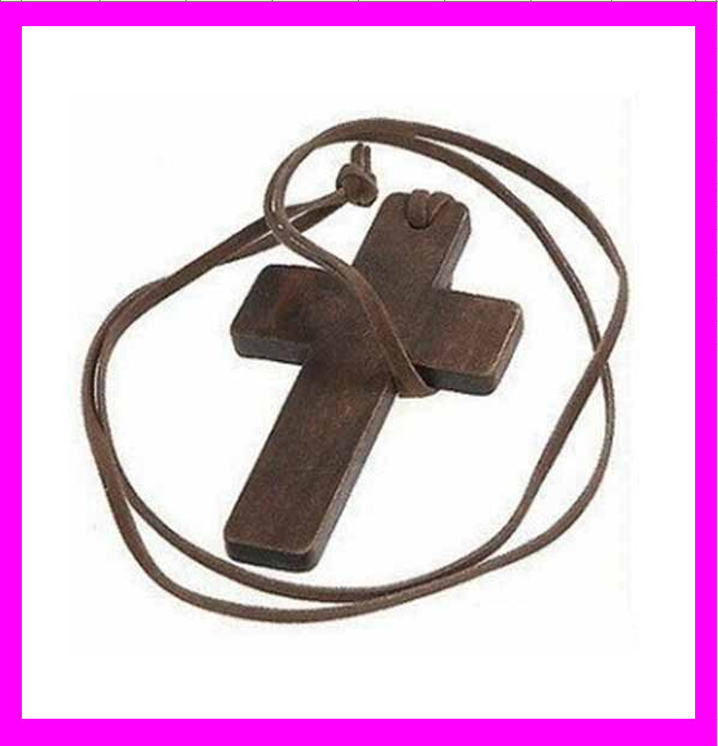 KD1711 Hot Sale Fashion free wooden cross necklace