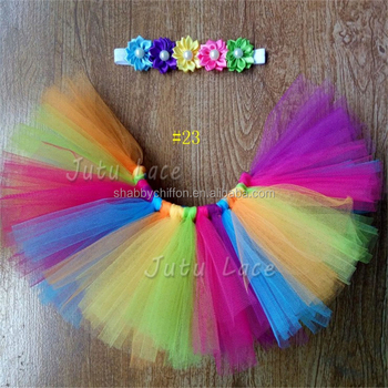 Fancy Beautiful Rainbow Colorful Tutus Baby Dress Girls Frocks Short Photography Skirt With Headbands Buy Rainbow Colorful Tutus Skirt Beautiful