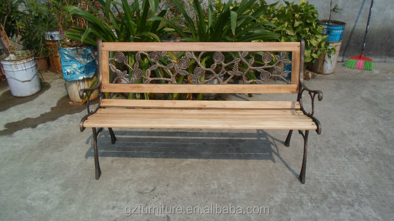 Garden Bench / Park Bench Cast Iron Frame And Hardwood Slats   Buy Outdoor  Furniture Garden Bench,Antique Wooden Garden Bench,Garden Benches For Sale  ...