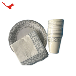 005 quality luxury disposable tableware