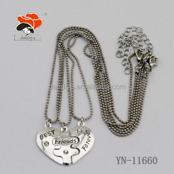 China Factory Price Supply Pendant Heart Shape Alloy Copper Epoxy Chain Necklace