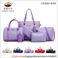 wholesale tote bag candy color lady purses handbags set quilted shape female bag oem women bags