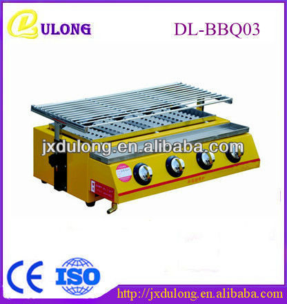 september 2013 hot sale stainless steel cheap one sided industrial metal gas smokeless korean bbq grill table