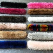Fancy Colorful Big Raccoon Real Fur Collar