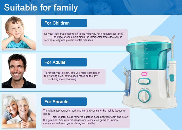 oral irrigator high water pressure extra long usage time teeth clean teeth whitening remove dental plaque remover