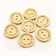 custom 15mm 20mm 25mm 2 hole round laser engraved logo wood button for clothes