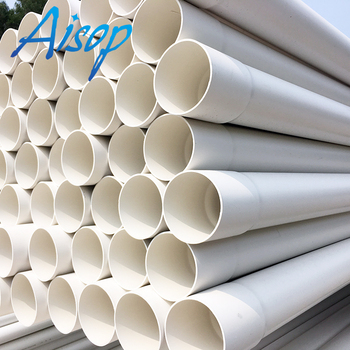 Factory hot sale 2inch 4inch 6inch 8inch white plastic pvc pipe list price water supply pipes large diameter drainage pvc pipe