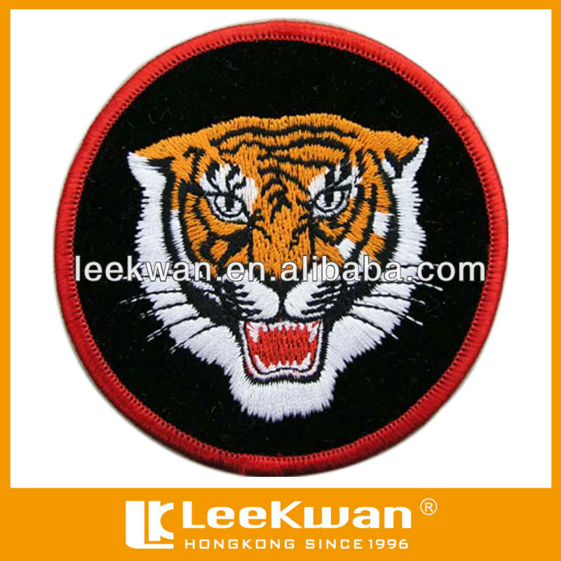 tiger head iron embroidered iron on patch badge