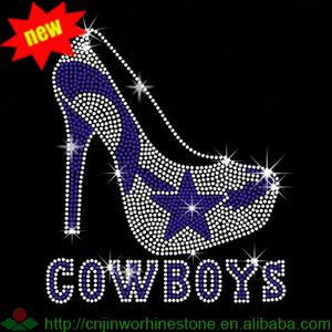 4e2e69597d2 Dallas Cowboy High Heel Shoes Wholesale Rhinestone Transfers ...