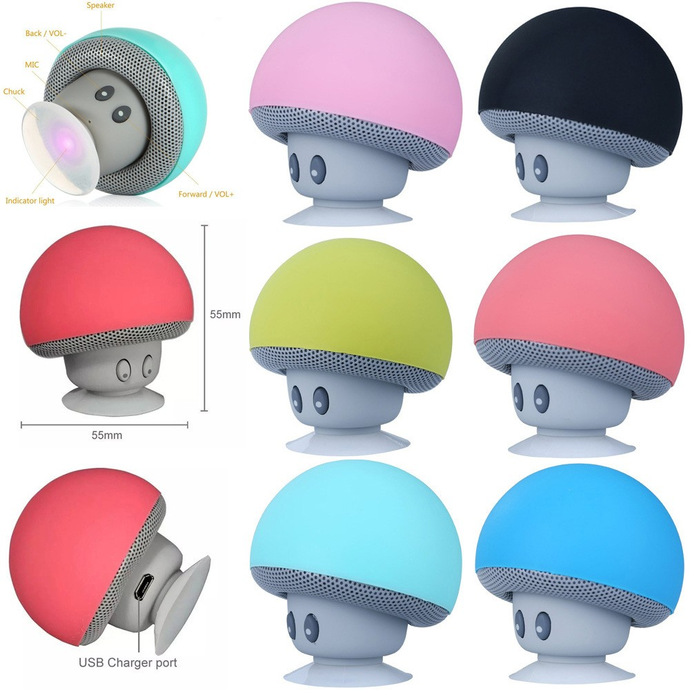 Wholesale Christmas Gifts Cheap Mushroom wireless speaker with Phone holder