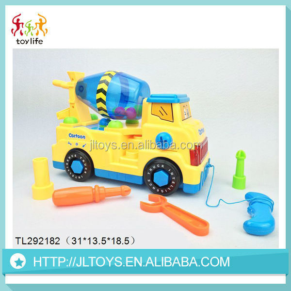 Wholesale education baby toy construction mini truck for kids