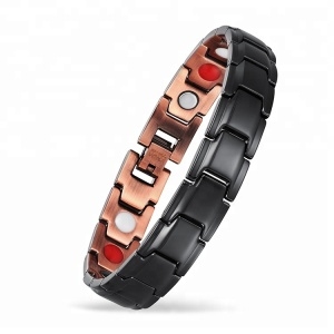 Hot Sale 3000 Gauss Pain Relief Men Copper Bracelet Magnetic Therapy Bracelet for Health