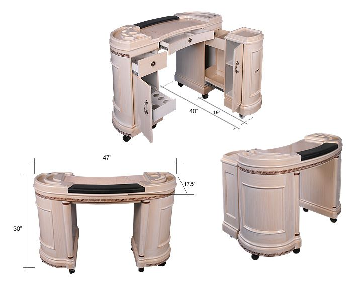 White Nail Manicure Table For Sale Double Seat Buy Black Product On Alibaba Com