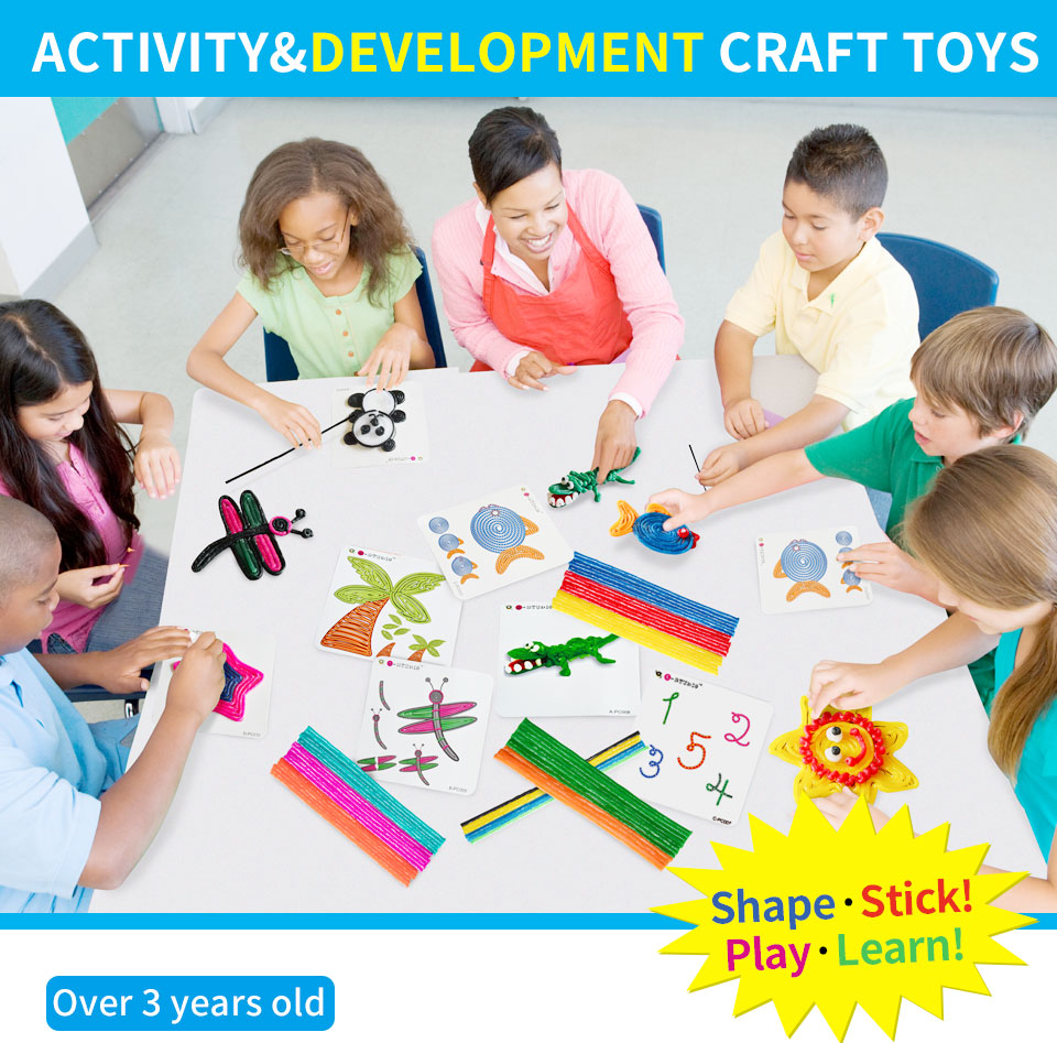 Colorful building toy for age 4 kids learning educational toy 2D 3D