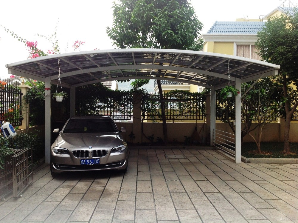 aluminum frame attached metal carports for cars buy 2 car metal carport metal roof carport. Black Bedroom Furniture Sets. Home Design Ideas