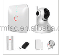 IP Camera integrated digital wireless home automation burglar security gsm alarm system with menu in German/French/English