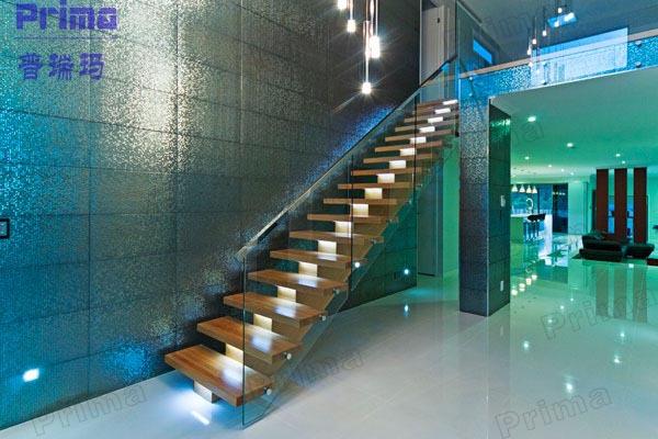 Modern Design Single Stringer Straight Steel Staircase