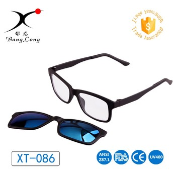 Cheap OEM tac polarized sunglasses UV400 fashion TR90 unisex magnet sunglasses with clips on glasses for driving