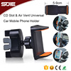 Universal Smart Air Vent Cell Phone Cradle Cd Slot Car Mount Cellphone Holder For Smartphone Mobile Stand