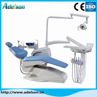 Low price glass cuspidor Electric dental chair unit with 90 degrees rotary unit box