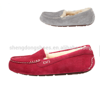Latest 2018 new styles lady loafers suede leather shoe wholesale OEM 2019