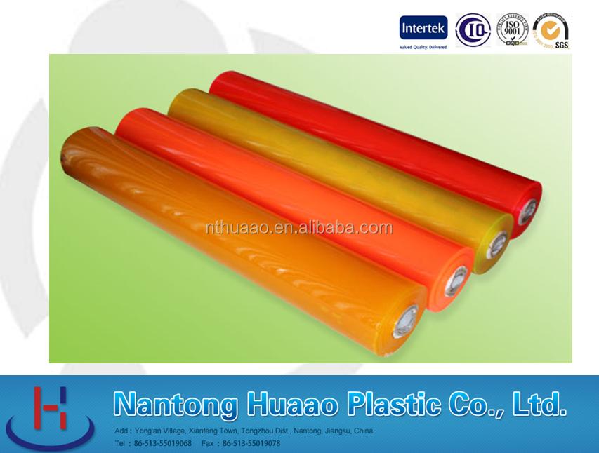 Orange pvc souple couleur film anti uv transparente de for Film plastique anti uv pour serre de jardin
