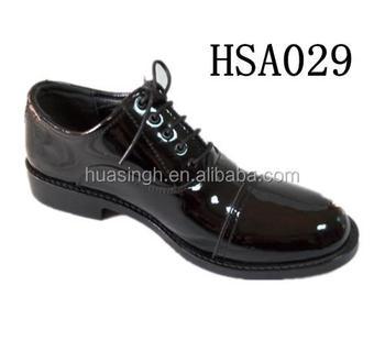 High Gloss Men Uniform Dress Shoes