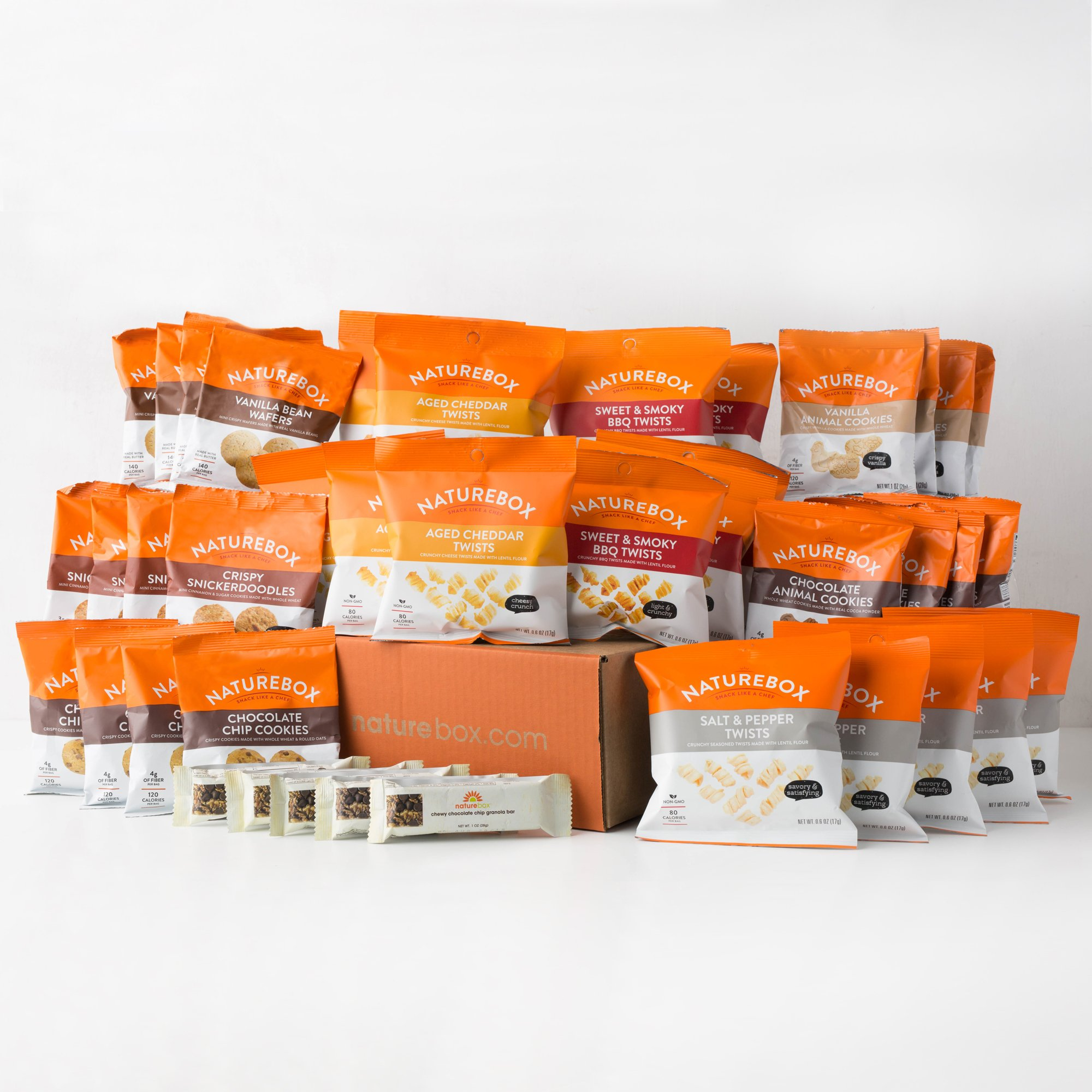 NatureBox Healthy Snacks Care Package Variety Assortment (XL Care Package) - Office, College, Travel Snacks