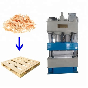 China supplier pallets assembly production line / 800 ton compressed Wood pallet mould machine