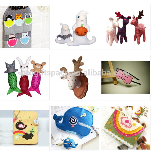 2018 new fashion hot sale unique cheap handmade wholesale hanging birds door ornaments felt easter decoration made in China