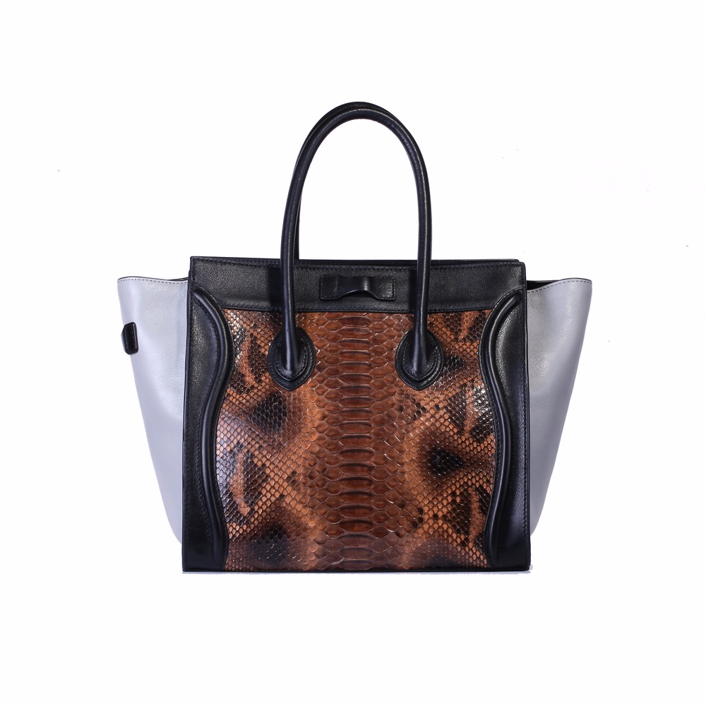 Lastest famous brand ladies <strong>handbag</strong> for usa with python pattern leather