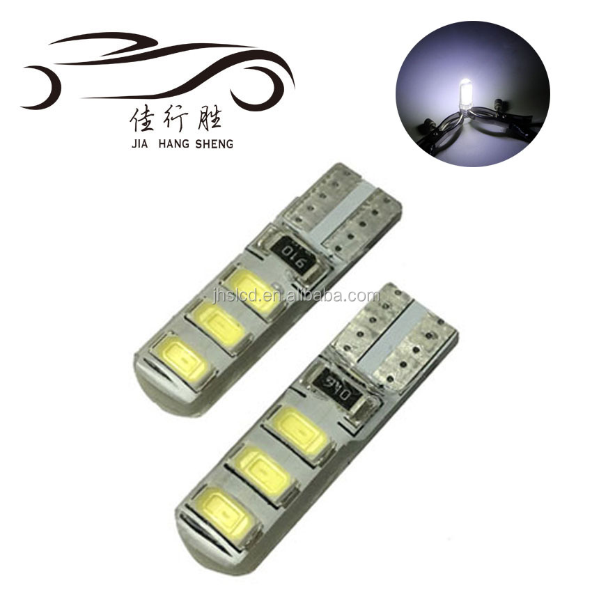 Waterproof T10 Led Bulb 5630 Car Led Light Silicone 6SMD W5w Interior light License Plate Light