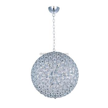 Modern Decorative Crystal Ball Ceiling Hanging Light Fixture Pendant ...