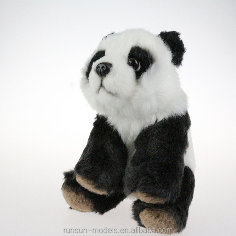 hot sale 13*12*17cm warm baby doll black white color cuddy toy panda stuffed <strong>animals</strong> with big eyes