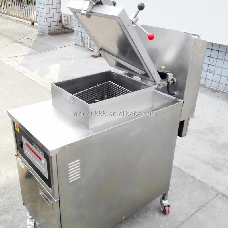 Shanghai Minggu Commercial Kitchen 2 baskets Stainless Steel Gas Deep Fryer/Commercial Deep Fryers