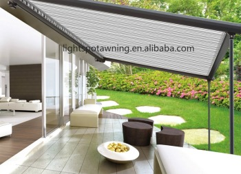 Electric Retractable Rain Roof Waterproof Pergola Terrace Awning