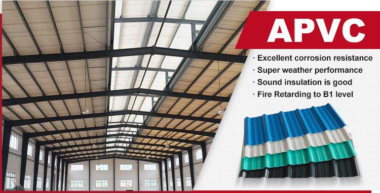Commercio all'ingrosso resistente alla corrosione impermeabilizzazione APVC tegola pakistan