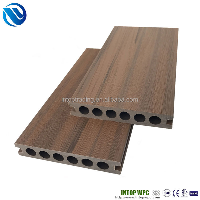 CO Extrusion WPC Decking exterior plastic wood composite floor covering deck wpc outdoor flooring