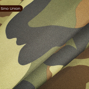China waterproof yarn dyed 600D PVC coated roll of waterproof camouflage fabric