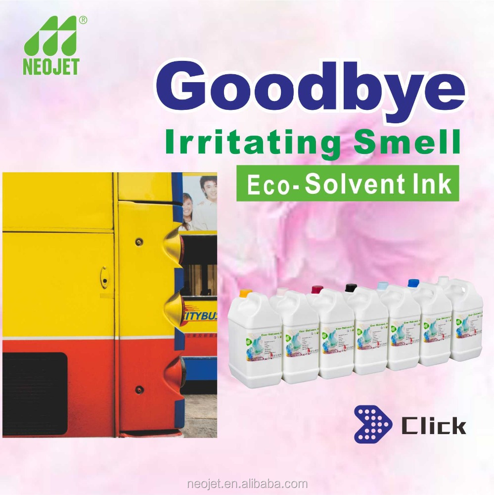 premium pigment eco solvent based ink for epson dx5 dx6 dx7 print head epson s70680 eco solvent printer smell less eco inks
