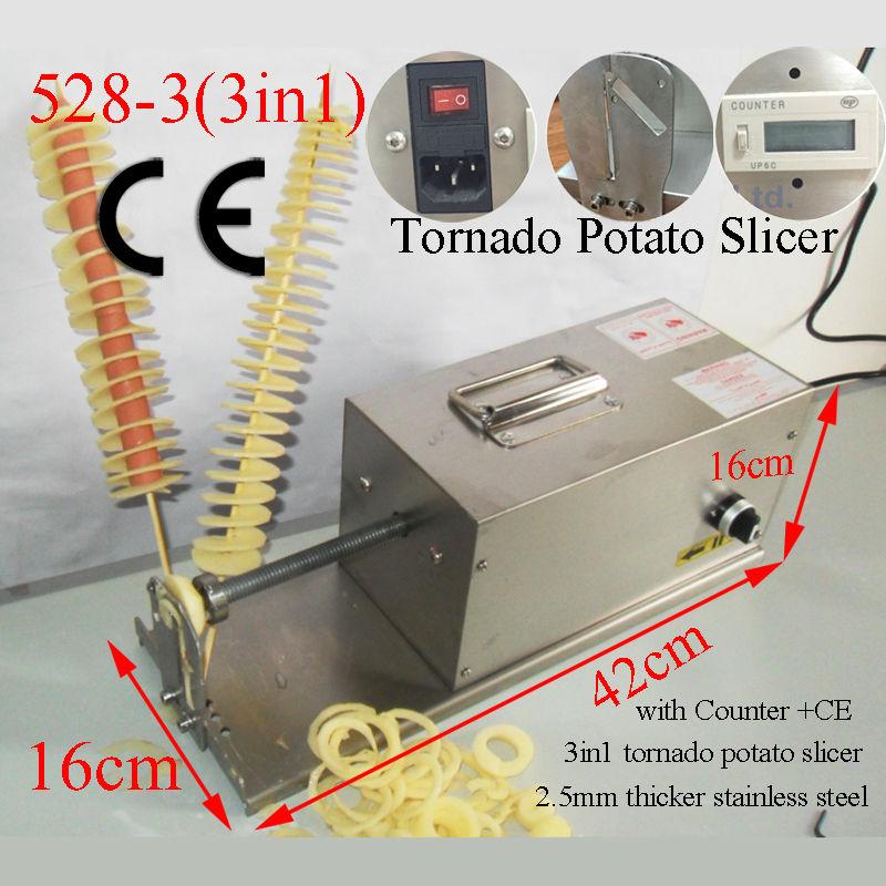 Commercial Electric Twist Potato Machine Cheap Ribbon