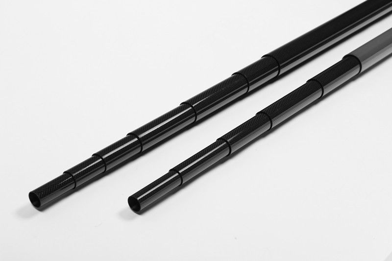 Super strength & light weight 3k carbon fiber telescopic tube