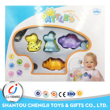 Eco-friendly baby toy set bedside mobile silicone rattle toy with music