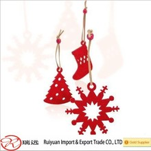 2015 Popular Best Sell Laser-Cutting Felt Christmas Hanging Ornament For Indoor
