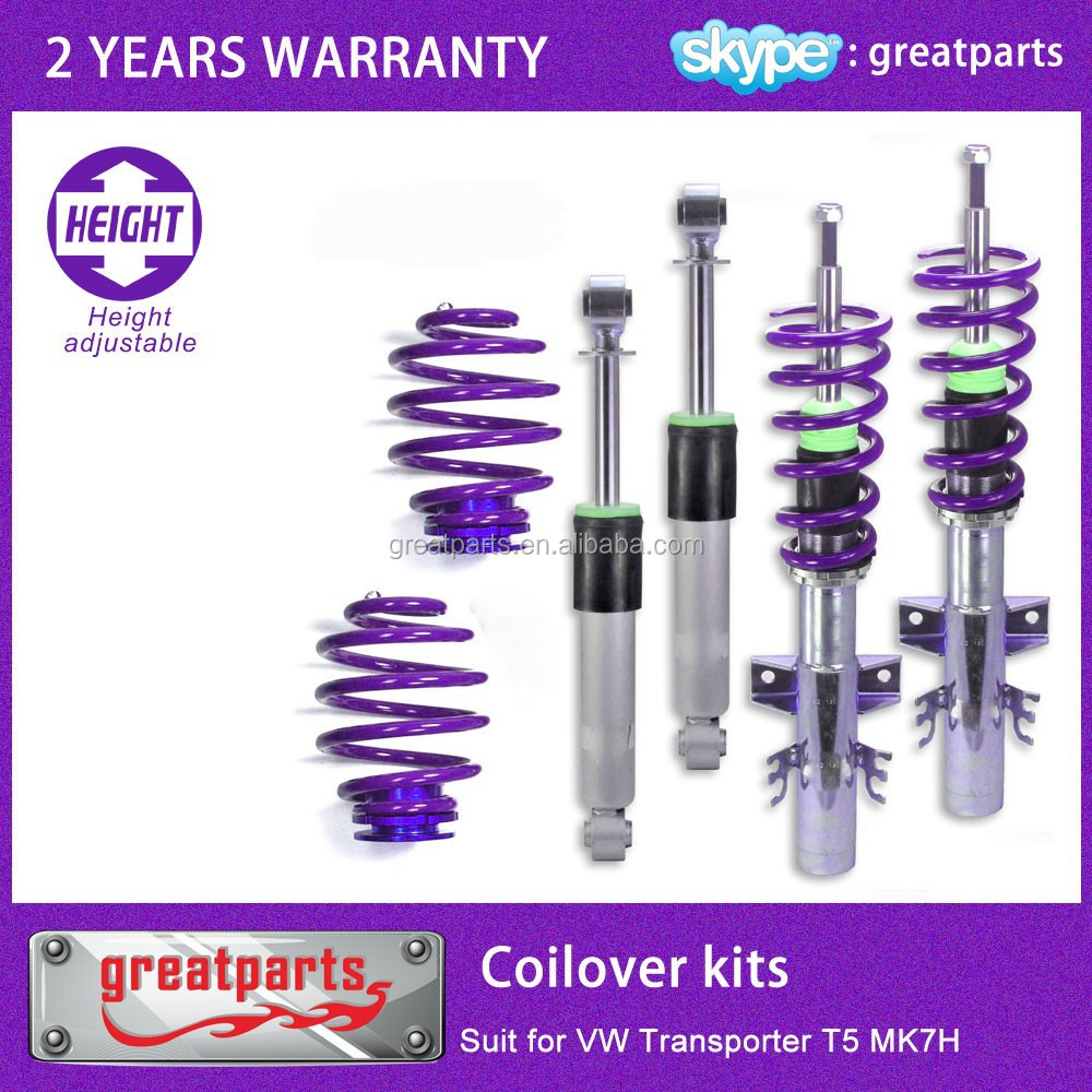 optimal damping coilover suspension for VW Transporter T5 thread/spring