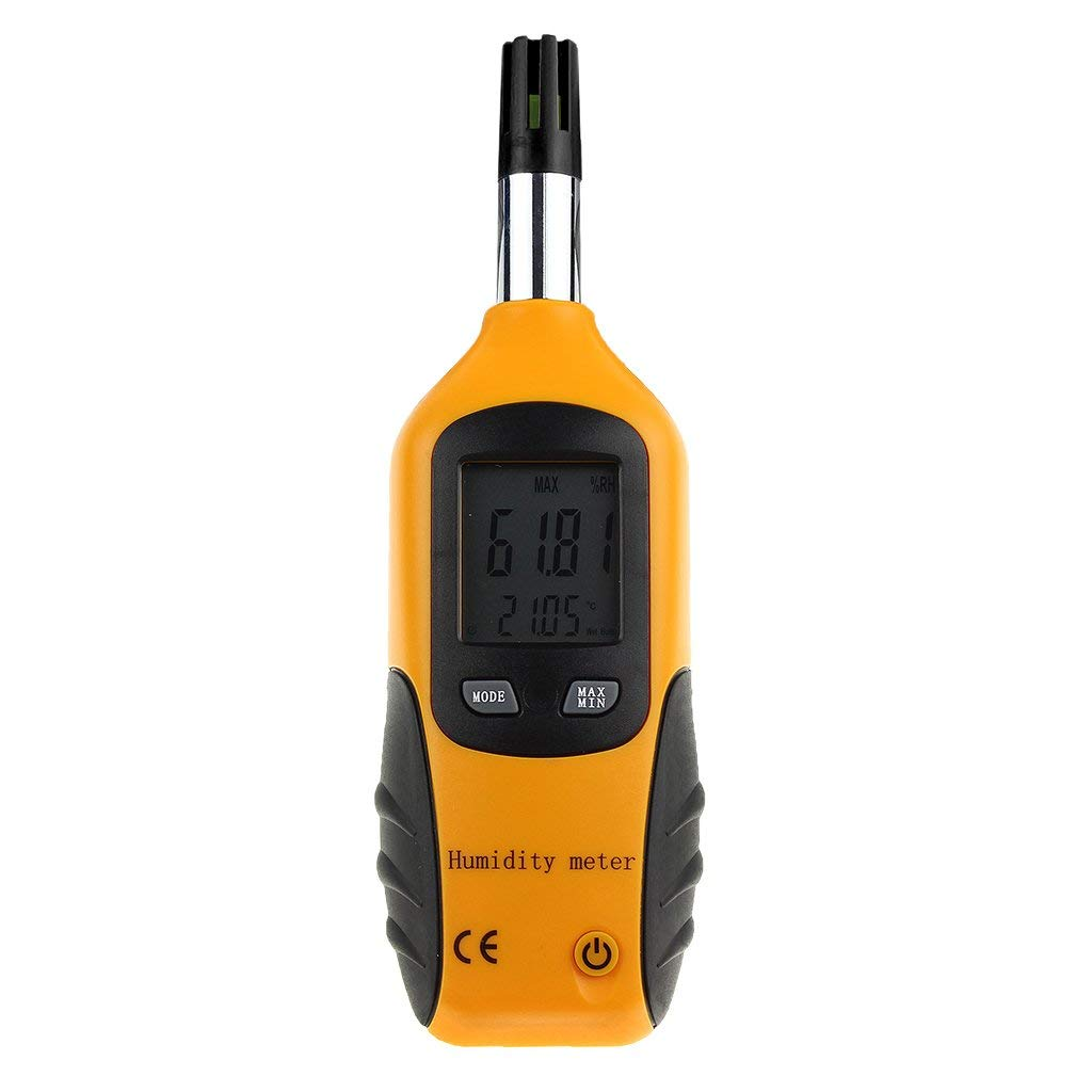 Homyl Digital Humidity & Temperature Meter. Multi-function Thermometer & Hygrometer, with Wet Bulb / Dew Point, for Daily Use and Industray