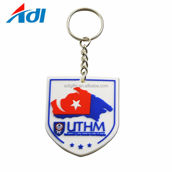 Custom your own design company logo shaped soft pvc Rubber Keychain for sale