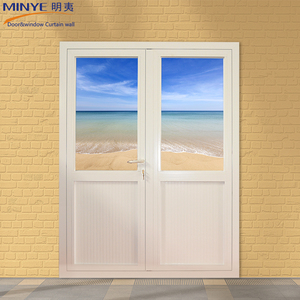 Spanish Style Aluminum Double Glazed Glass Casement Door China Supplier Hot Sale