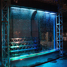 3m waterfall magic water graphic digital water curtain linear shaped for outdoor indoor decorate or show